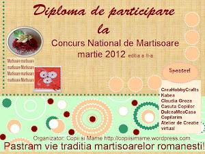 "Diploma ""Concurs National de Martisoare"""