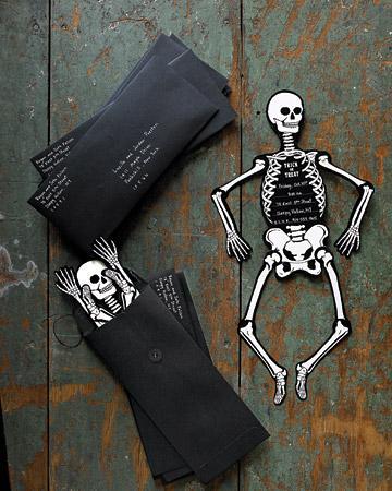 Invitaciones esqueleto (imprimibles Halloween)