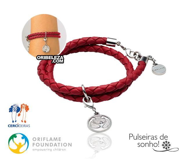 Pulseira Charity Vermelha - Oriflame Solidária