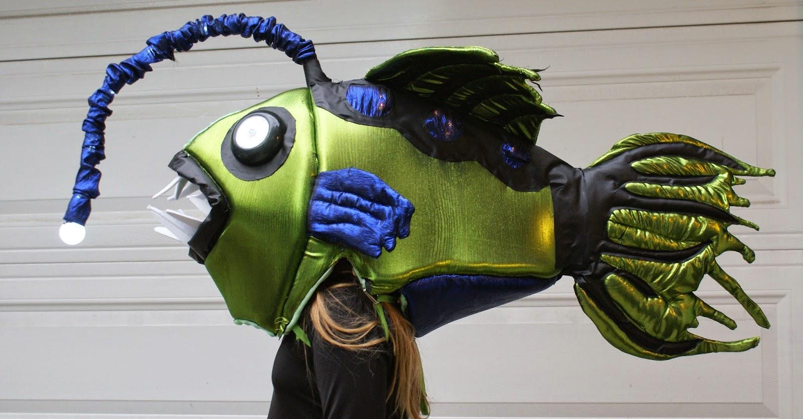 Amuse me blog angler fish costume for halloween for Angler fish costume