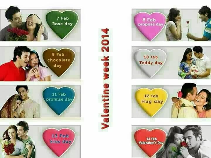 February Valentine Date Sheet Valentine's Day ki Date Sheet