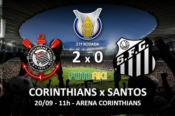 Veja o resumo da partida com os gols e os melhores momentos de Corinthians 2x0 Santos pela 27ª rodada do Brasileirão 2015.