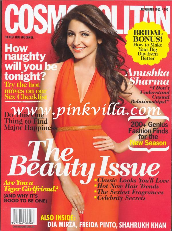 Anushka Sharma Cosmopolitan Cover1 - Beautiful, Anushka Sharma on Cosmopolitan Magazine Cover Nov 2011