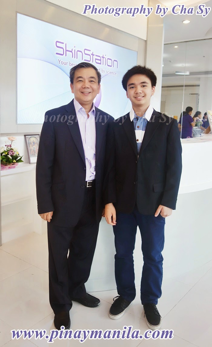 Skin Station Owner Fred Reyes with son Joseph Pio Reyes,