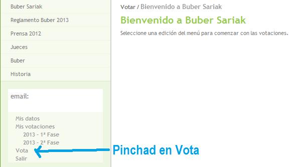 2ª Fase de Votaciones de los Premios Buber 2013. Límite para votar: Viernes, 29 de Noviembre de 2013