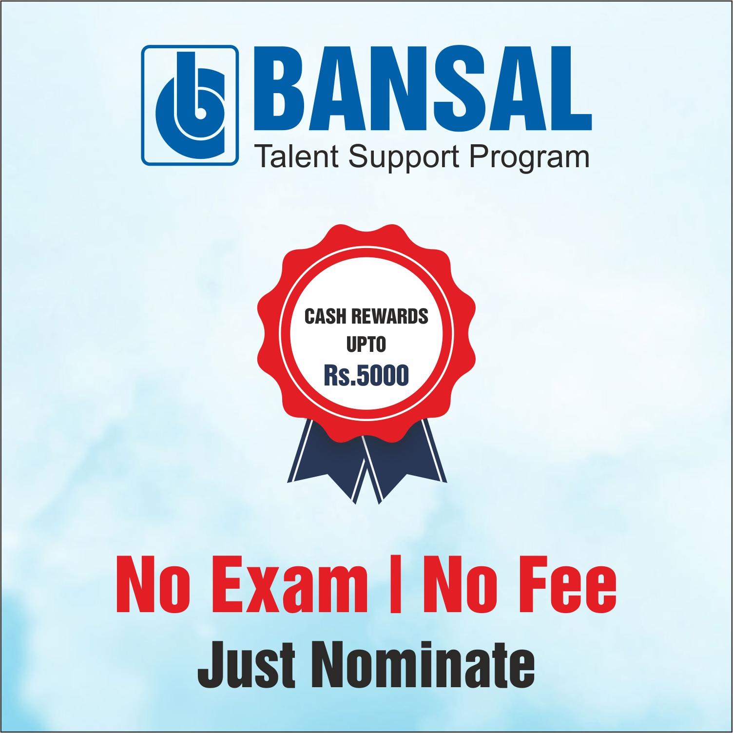 Nominate & Win Cash Rewards upto Rs 5000