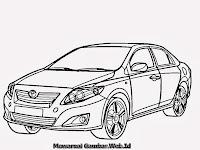 Mewarnai Gambar Mobil Toyota Corolla