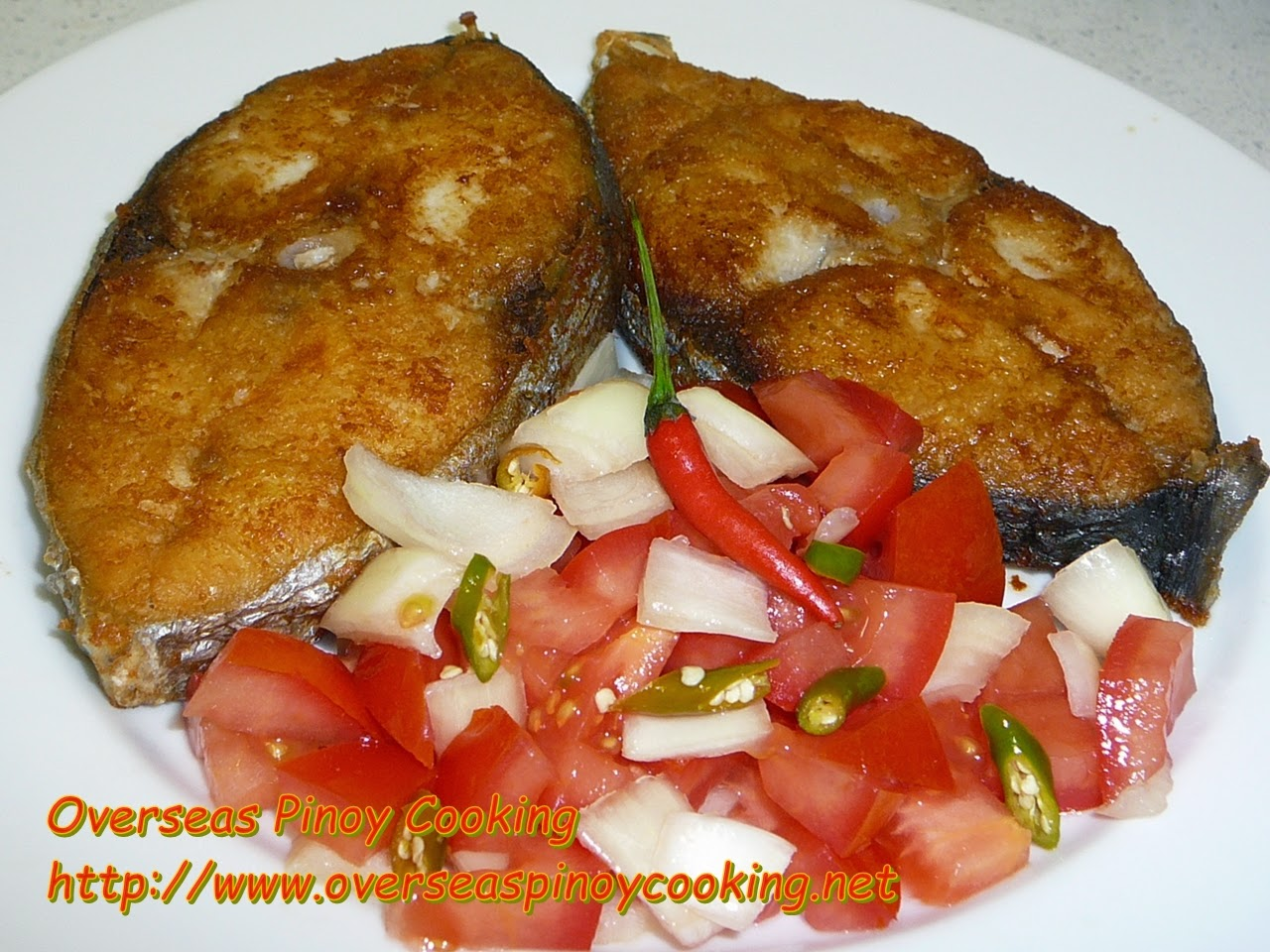 Fried Tanguigue Steak