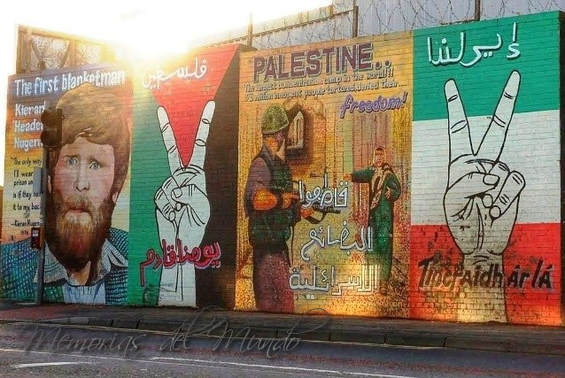 Murales de Belfast por Palestina
