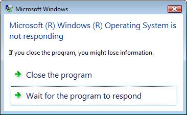 mengatasi program not respond