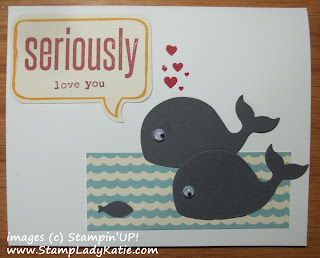 Card made with Stampin'UP!'s Happy Whale Die