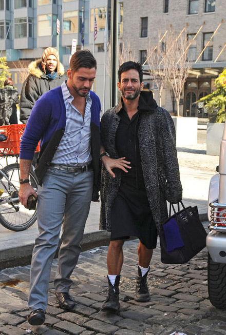 Photo of Marc Jacobs & his friend celebrity  Lorenzo Martone -