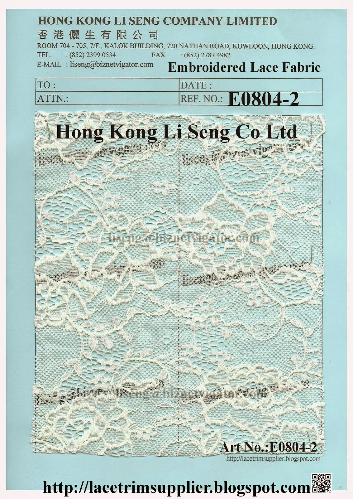Wholesale Apparel Lace Fabric Manufacturer Supplier - Hong Kong Li Seng Co Ltd