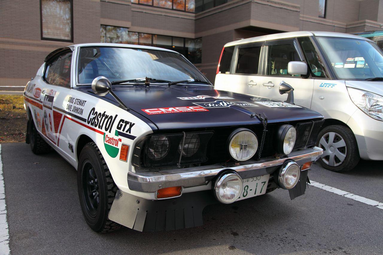 Mitsubishi Galant, rally, rajdowy, japońskie stare auto, klasyk z Japonii, dawny samochód, wyścigi, JDM