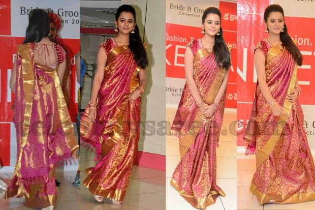 Manasa in Bridal Silk Saree