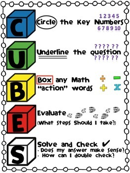 Ms kohlsmith s grade 5 classes cubes math strategy for solving word