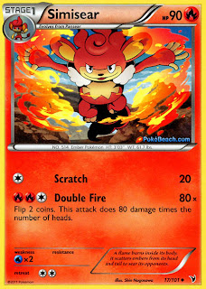 Simisear Pokemon Card Noble Victories Set