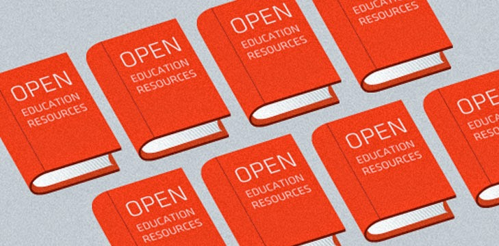 """Image of books with """"Open Education Resources"""" on the cover.  Source: http://www.jisc.ac.uk/sites/default/files/oer.jpg"""
