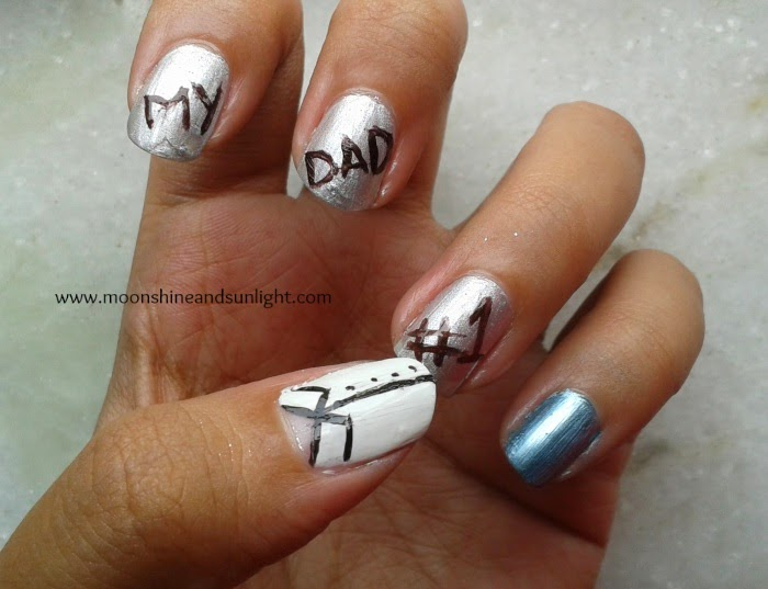 Father's Day nail art ,India