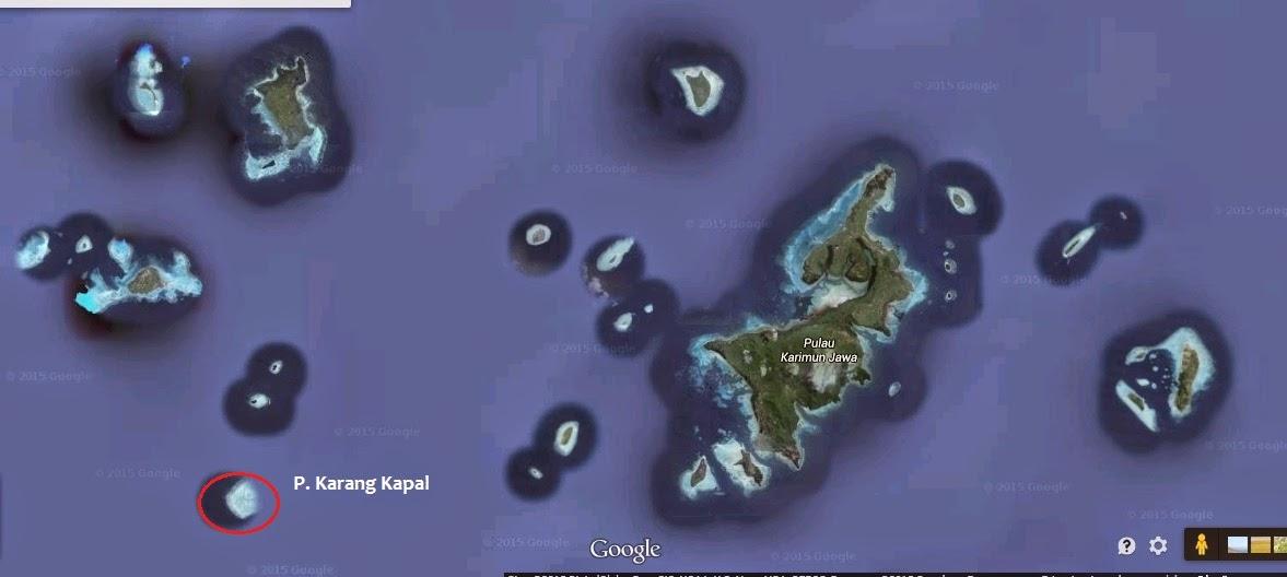 lokasi pulau karang kapal di karimunjawa