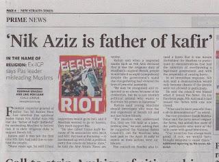 isu Bapa Kafir, saman, NST kene saman, akhbar kena saman, tuduh nik aziz Bapa Kafir, fitnah Bapa Kafir, tuduhan terhadap Nik Aziz Bapa Kafir, protes Bapa Kafir, saman akhbar NST