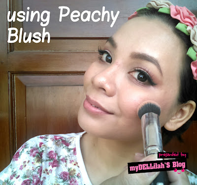 using blush on