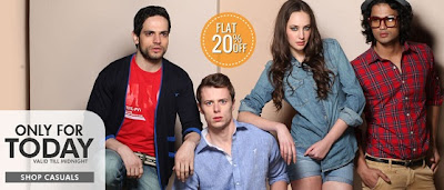 Enjoy Flat 20% Additional Off on Men's & Women's Casual Wears at Home Shop18 (Offer Valid For Today Only)