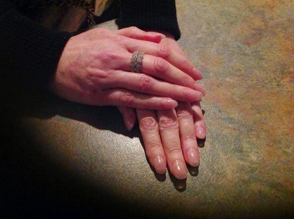 Acrylic extensions + crystal pink LED polish top off