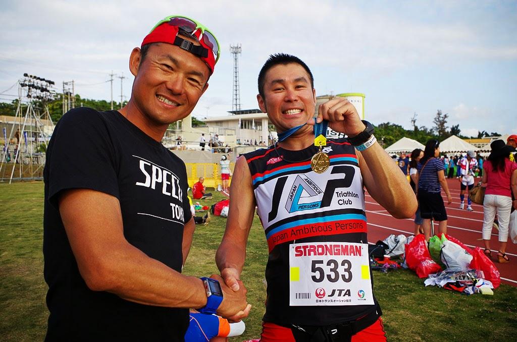 ゴール後は最高に幸せな気持ちになる。がっちり握手を交わすTKと木村さん。