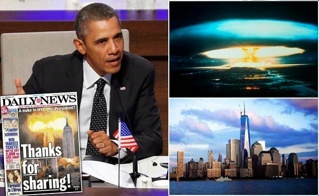 OBAMA PREOCUPADO POR QUE UN ARMA NUCLEAR EXPLOTE EN NEW YORK.