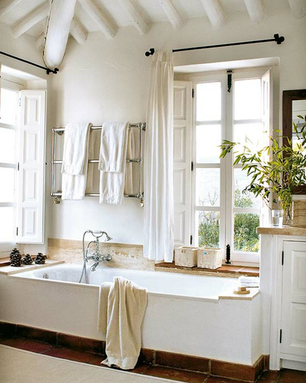 Beautiful Rustic White And Bright Luxe Bathroom TANYESHA