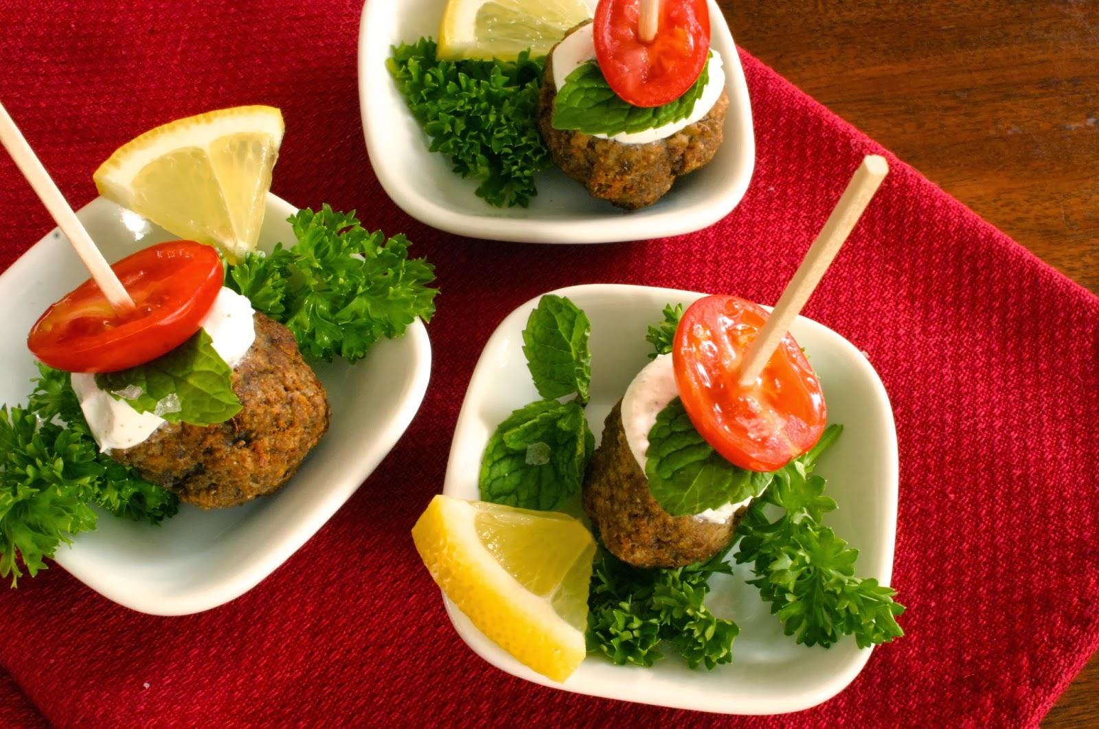 lentil falafel appetizer