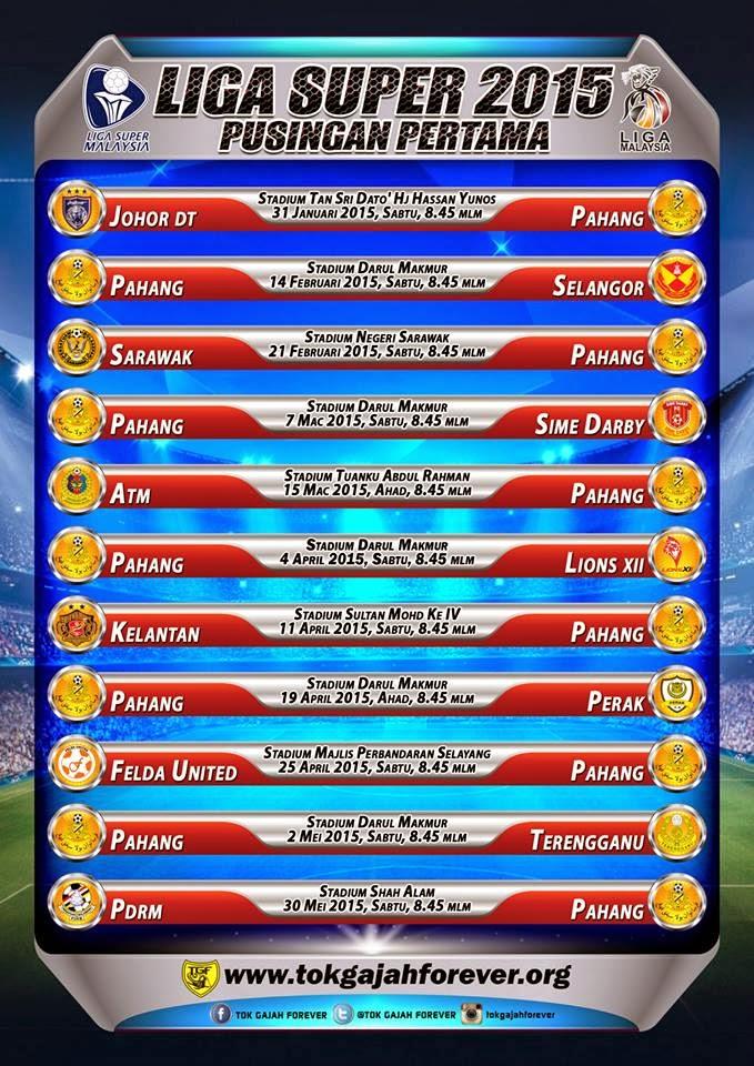 Liga Super Jadual Perlawanan