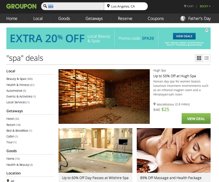 Use Groupon to find great deals on spas :: OrganizingMadeFun.com