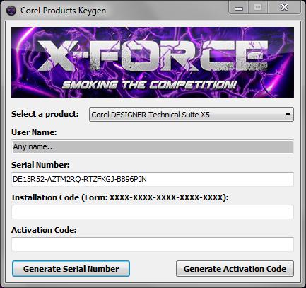 Corel X7 keygen X Force