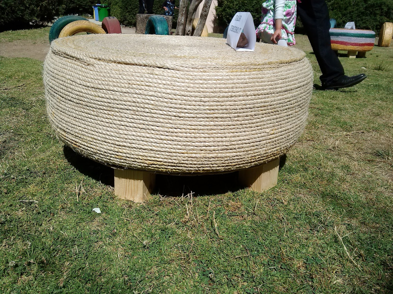 mesa reciclada