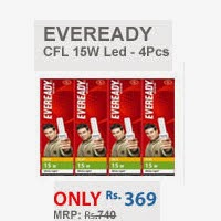 Shopclues: BUY Eveready CFL 15W ELD – Combo ( Pack of 4) at Rs.369
