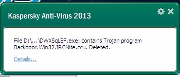 Virus Trojan Telah Dihapus Kaspersky