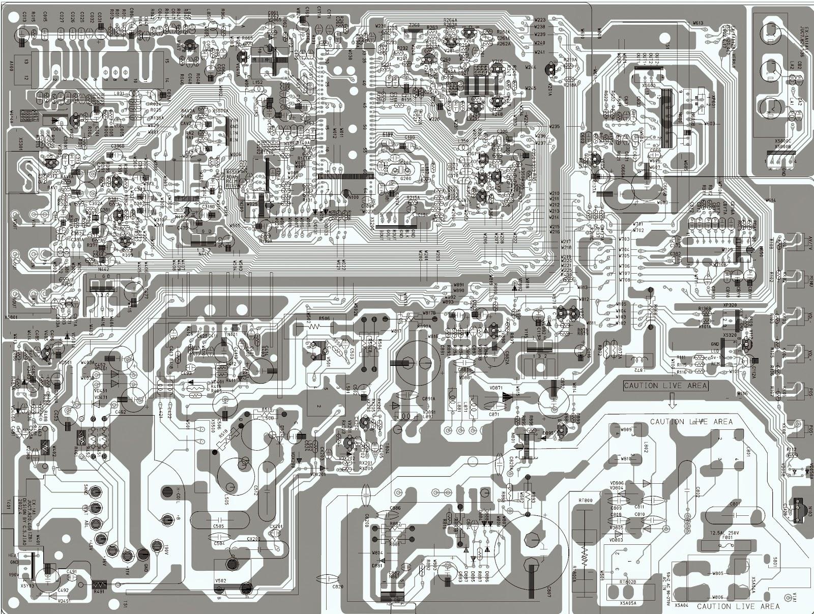 Color Tv Circuit Diagram Using Ic Tda935x 6x 8x Syscon Chroma