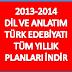 11. Sınıf Türk Edebiyatı Yıllık Planı