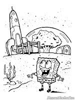 SpongeBob Melihat Pesawat Ruang Angkasa Sandy