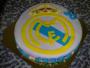 Escudo Real Madrid. Esta tarta nos la pidieron para un cumpleaños de dos . (real madrid )