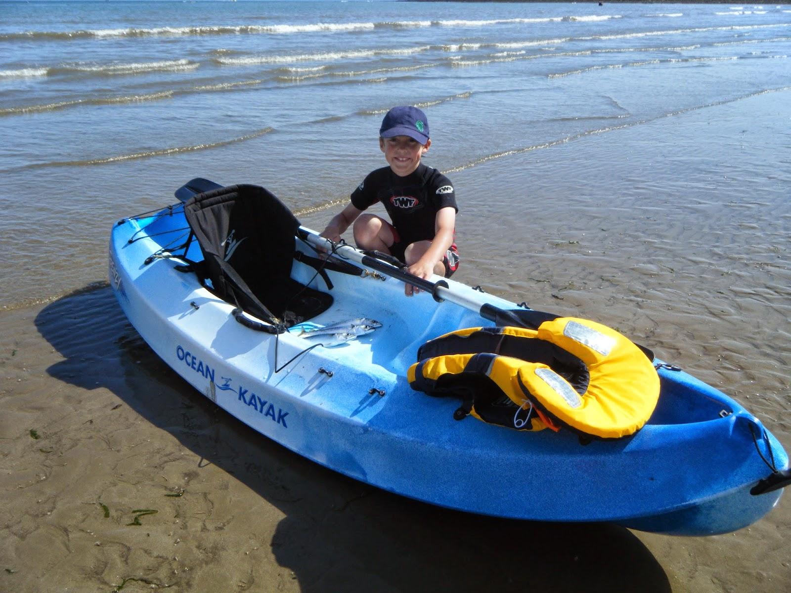 8 year old benjamin 39 s first kayak fish ocean kayak uk for Ocean kayak fishing