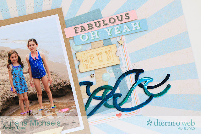 Sneak Peek of Layout for Therm O Web by Juliana Michaels featuring Deco Foils and Hot Melt Adhesive