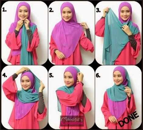 Model 2. Tutorial Hijab Selendang