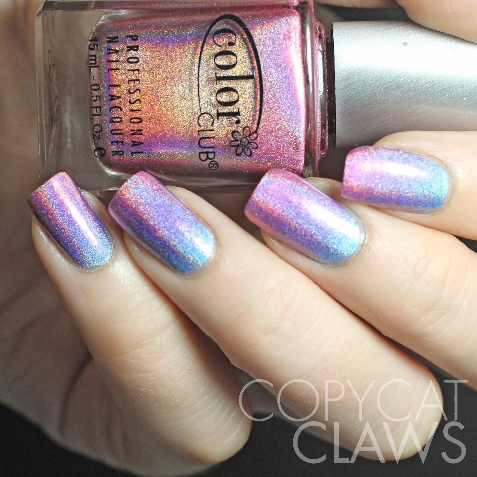 Copycat Claws: Color Club Holographic Gradient