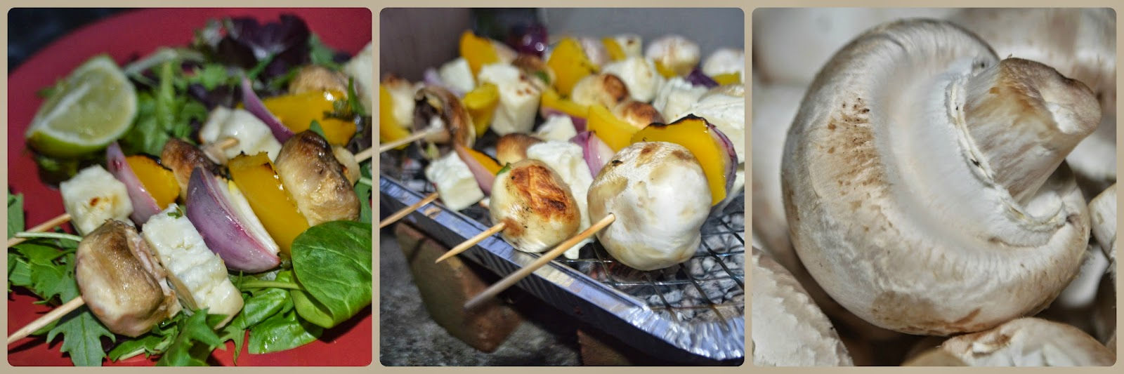 Halloumi Mushroom Kebabs Just Add Mushrooms Family Recipe #Mushroom MealS