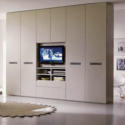 Cymisa espacios dedicados a la televisi n for Closet con espacio para tv