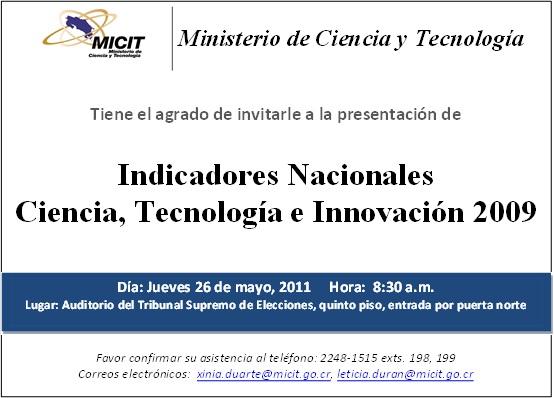 Ministerio de ciencia y tecnolog a mayo 2011 for Ministerio de ciencia