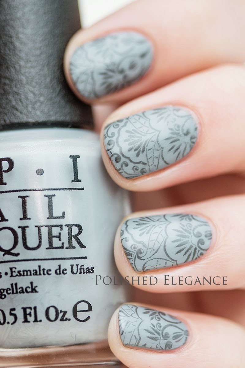 OPI - Fifty Shades Of Grey collection stamping, elegant matte grey stamping